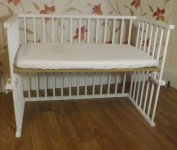 New Baby White Next to Mum Bedside crib Next to Bed Side by Side Crib Cot With Deluxe Breathable Mattress Different Position