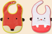 Baby Infant Waterproof Stereo Bibs/cute Animal Bibs 2pcs