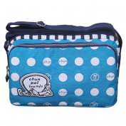 emansmoer Polka Dot Canvas Shoulder Bag Lovely Cartoon Printed Messenger Crossbody Bag