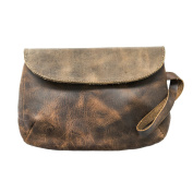 Chic Leather Clutch Bag Handmade by Hide & Drink :
