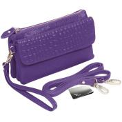kilofly Women's Wristlet Soft Leather Clutch Handbag + kilofly Money Clip