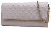 Caige fashion leather Envelope Style Womens Party Prom Wedding Clutch Bag Purse 7 colours