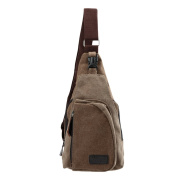 Anself Men's Canvas Military Bag Zipper Pocket Crossbody Bag