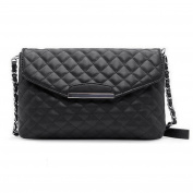 Anself Women Quilted Shoulder Bag PU Leather Flap Front Crossbody Bag