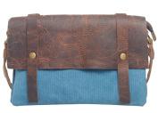 Tina Women's Vintage Canvas Belted Flap Double Layers Shoulder Messenger Bag