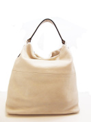 BEIGE LEATHER CHIARINI SHOPPING BAG