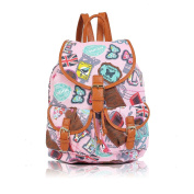 Quality Ladies Girls Large A4 Size Rucksack Backpack Duffle School Gym Travel Bag