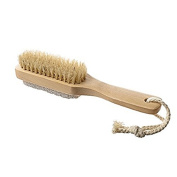 PIXNOR Bath Brush - Natural Boar Bristle Shower Brush Pumice Foot Brush