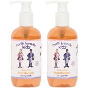 2 x Earth Friendly Kids® Children Hand Wash Handwash with Natural Certified ORGANIC Ingredients 250ml