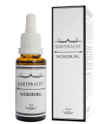 "Bartpracht beard oil for beard care ""Würzburg"", 100% natural product (spicy-dry), soften your beard with Germany's no. 1 premium beard oil brand"