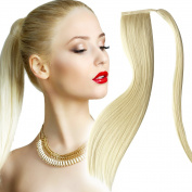 Ponytail Hair Extensions Light Blonde (# 613) Straight Full Head Clip-in 60 cm 120g