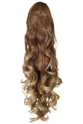 Dip Dye Claw Clip Straight Curly End Ponytail-LF39M Koko Uk Hair Extensions