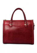 Embossed barrel handbag