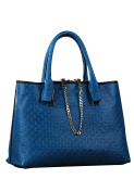 Embossed Zipper Tote