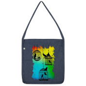 Twisted Envy Rainbow Bird Cages Tote Bag
