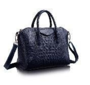 Crocodile pattern leather handbags / first layer of leather shoulder bag / Smile Bags