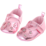 Etrack-Online Baby Girls' Bling Bling Flower Soft Sole Sneaker Shoes Pink 6-12 Month