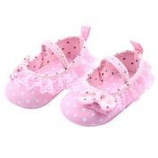 Ouneed Cute Baby Girl Crib Shoes Comfortable AntiSlip Princess Dot Lace Bow Shoes