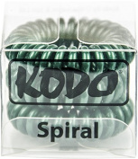 Kodo Spiral Hair Holly Green Bobble Pack of 3, Pain Free Hair Band, Reduces Split Ends by Kodo