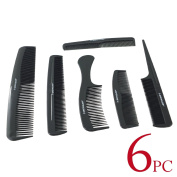 6pc Black Comb Set