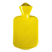0.8 litre Rubber Hot Water Bottle Hot Water Bottle Heat Therapy for Children, Yellow
