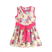 For 1-7 Years Old, Internet Girls Princess Party Skirts Baby Kids Formal Sleeveless Floral Dress