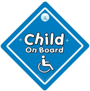 Disabled Child On Board Blue, Disabled Sign, Disabled Boy, Baby On Board Car Sign, Baby On Board Sign, Car Sign, Baby Car Sign