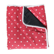 Baby Blanket with Waterproof Backing - Red