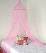 Mosquito Nets 4 U Bed Canopy/Mosquito Net with Butterflies, Pink