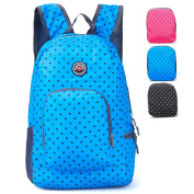 Hopsooken Travel Backpack for Schools - 25L Waterproof Dot Ultra Lightweight Daypack Bag for Women and Men, School Backpack for Girls, Boys, College Student