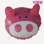 Lunar baby Cartoon Fun Waterproof Shower Cap for Children, Kids PVC Shower Hat, Spa/Swimming Bathing Cap