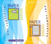 Paper Shower-Original, 120 Body Wipe Packs (A Wet And Dry Towel In Each Pack) Per Order.