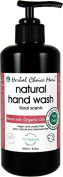 Herbal Choice Mari Liquid Hand Wash m/w Organic Floral Scents 200ml/ 6.8oz Glass Bottle w/ Pump