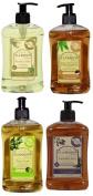 A La Maison French Coconut, Yuzu Lime, Lavender Aloe, Rosemary Mint Liquid Soap 4 Variety Pack