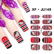 Huafeiwude Womens 60 Designs 3D Printed Nail Polish Stickers Nail Art Decoration JU145