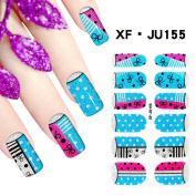 Huafeiwude Womens 60 Designs 3D Printed Nail Polish Stickers Nail Art Decoration JU155