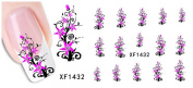 Huafeiwude Womens 48 Designs Watermark Nail stickers Nail Art Decal Decoration XF1432
