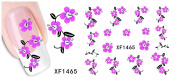 Huafeiwude Womens 48 Designs Watermark Nail stickers Nail Art Decal Decoration XF1465