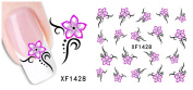 Huafeiwude Womens 48 Designs Watermark Nail stickers Nail Art Decal Decoration XF1428