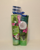 Bath & Body Works ~ Signature Collection ~* WAIKIKI BEACH COCONUT *~ Gift Set~ Fine Fragrance Mist & Ultra Shea Body Cream