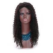 Unprocessed Natural Black Colour Brazilian Virgin Hair Kinky Curly Full Lace Human Hair Wigs for Black Women