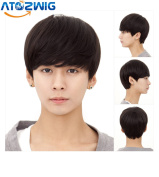 ATOZ Hair ® Short Men Full Wig Curly Cheap Fluffy Wig Fashion Natural Hair Black Wigs For Men