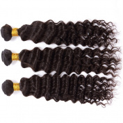 Malaysian Virgin Deep Wave Hair 18 50cm 2 Bundles 200g Unprocessed Virgin Human Hair Weave Natural Black Deep Curly Hair Extensions