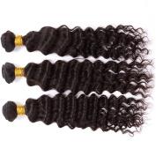 Malaysian Virgin Deep Wave Hair 18 50cm 2 Bundles 200g Unprocessed Virgin Human Hair Weave Natural Black Deep Curly Hair Extensions