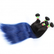 xuchang Eecamail 7A 1B/Blue Brazilian Straight Virgin Hair Extensions Brazilian Human Hair Weave 4 Bundle 400gram