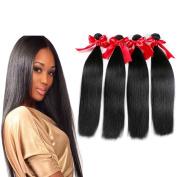 Soft Virgin Peruvian Human Hair Bundles 7a 100% Unprocessed Peruvian Straight Hair 4Pcs Virgin Remy Hair Wefts Extensions Natural Colour 400grams