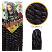 Kingston Kingtwist King Twist Braiding Hair 5.1cm x 46cm Large Crochet Synthetic Majesty