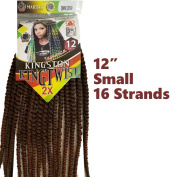 Kingston King Twist 5.1cm x 30cm Small 16 Strands Braiding Hair Crochet Synthetic Majesty