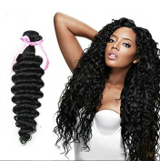 Peruvian Virgin Hair Deep Wave 4 Bundles Unprocessed Virgin Human Hair Puruvian Hair Bundles, Human Hair Extensions #1b