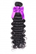 BEST LINA Remy Virgin Brazilian Deep Wave Human Hair Extensions Unprocessed Deep Wave Weave Natural Colour Single piece One pc